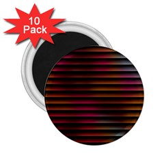 Colorful Venetian Blinds Effect 2 25  Magnets (10 Pack)  by Simbadda