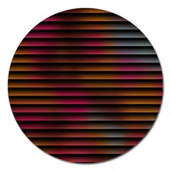 Colorful Venetian Blinds Effect Magnet 5  (round) by Simbadda
