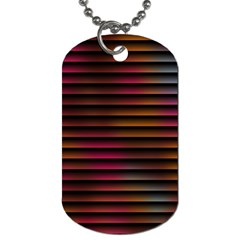 Colorful Venetian Blinds Effect Dog Tag (two Sides) by Simbadda