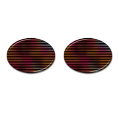 Colorful Venetian Blinds Effect Cufflinks (oval) by Simbadda