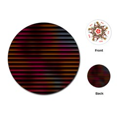 Colorful Venetian Blinds Effect Playing Cards (round)  by Simbadda