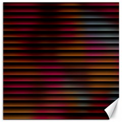 Colorful Venetian Blinds Effect Canvas 12  X 12   by Simbadda