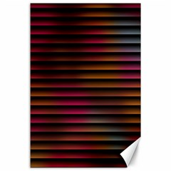 Colorful Venetian Blinds Effect Canvas 24  X 36  by Simbadda