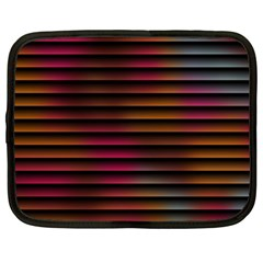 Colorful Venetian Blinds Effect Netbook Case (large) by Simbadda