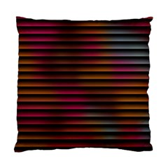 Colorful Venetian Blinds Effect Standard Cushion Case (two Sides) by Simbadda