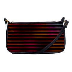 Colorful Venetian Blinds Effect Shoulder Clutch Bags by Simbadda