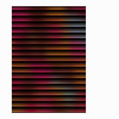 Colorful Venetian Blinds Effect Small Garden Flag (two Sides) by Simbadda