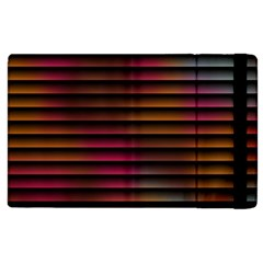 Colorful Venetian Blinds Effect Apple Ipad 3/4 Flip Case by Simbadda