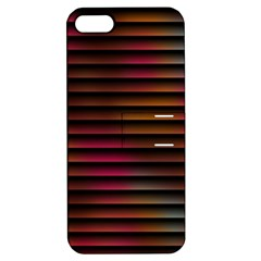 Colorful Venetian Blinds Effect Apple Iphone 5 Hardshell Case With Stand by Simbadda