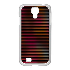 Colorful Venetian Blinds Effect Samsung Galaxy S4 I9500/ I9505 Case (white) by Simbadda