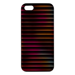 Colorful Venetian Blinds Effect Iphone 5s/ Se Premium Hardshell Case by Simbadda