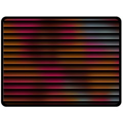Colorful Venetian Blinds Effect Double Sided Fleece Blanket (large)  by Simbadda
