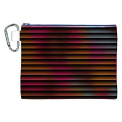 Colorful Venetian Blinds Effect Canvas Cosmetic Bag (xxl) by Simbadda