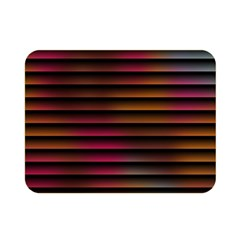 Colorful Venetian Blinds Effect Double Sided Flano Blanket (mini)  by Simbadda