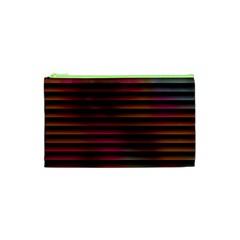 Colorful Venetian Blinds Effect Cosmetic Bag (xs) by Simbadda