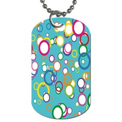 Circles Abstract Color Dog Tag (two Sides) by Simbadda