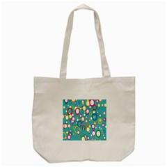 Circles Abstract Color Tote Bag (cream) by Simbadda