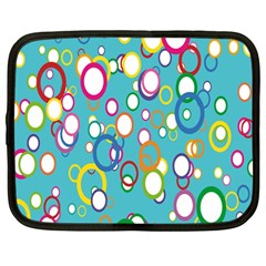 Circles Abstract Color Netbook Case (large) by Simbadda