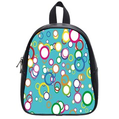 Circles Abstract Color School Bags (small)  by Simbadda