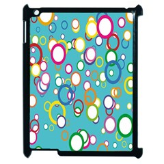 Circles Abstract Color Apple Ipad 2 Case (black) by Simbadda