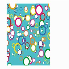Circles Abstract Color Small Garden Flag (two Sides)