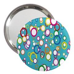 Circles Abstract Color 3  Handbag Mirrors by Simbadda