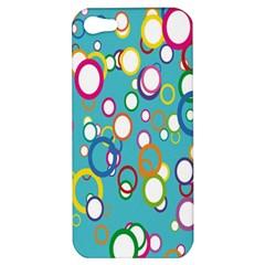 Circles Abstract Color Apple Iphone 5 Hardshell Case by Simbadda