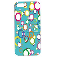 Circles Abstract Color Apple Iphone 5 Hardshell Case With Stand by Simbadda