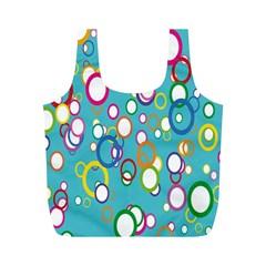 Circles Abstract Color Full Print Recycle Bags (m)  by Simbadda