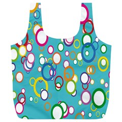 Circles Abstract Color Full Print Recycle Bags (l)  by Simbadda