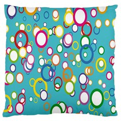 Circles Abstract Color Standard Flano Cushion Case (two Sides) by Simbadda