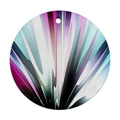 Flower Petals Abstract Background Wallpaper Round Ornament (two Sides) by Simbadda