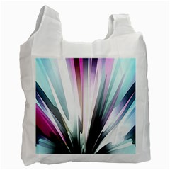 Flower Petals Abstract Background Wallpaper Recycle Bag (two Side)  by Simbadda