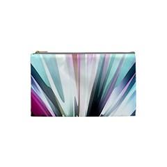 Flower Petals Abstract Background Wallpaper Cosmetic Bag (small)  by Simbadda