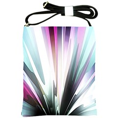 Flower Petals Abstract Background Wallpaper Shoulder Sling Bags by Simbadda