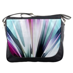 Flower Petals Abstract Background Wallpaper Messenger Bags by Simbadda