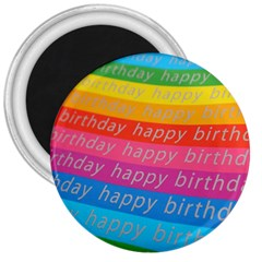 Colorful Happy Birthday Wallpaper 3  Magnets