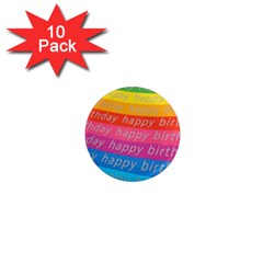 Colorful Happy Birthday Wallpaper 1  Mini Magnet (10 pack)