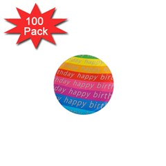 Colorful Happy Birthday Wallpaper 1  Mini Magnets (100 pack)