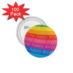 Colorful Happy Birthday Wallpaper 1.75  Buttons (100 pack)
