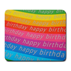 Colorful Happy Birthday Wallpaper Large Mousepads