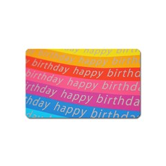 Colorful Happy Birthday Wallpaper Magnet (Name Card)