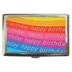 Colorful Happy Birthday Wallpaper Cigarette Money Cases by Simbadda