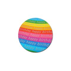 Colorful Happy Birthday Wallpaper Golf Ball Marker (4 pack)