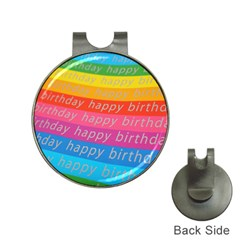 Colorful Happy Birthday Wallpaper Hat Clips with Golf Markers