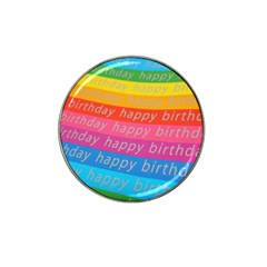 Colorful Happy Birthday Wallpaper Hat Clip Ball Marker (10 Pack) by Simbadda
