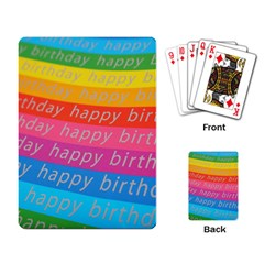 Colorful Happy Birthday Wallpaper Playing Card