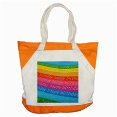 Colorful Happy Birthday Wallpaper Accent Tote Bag