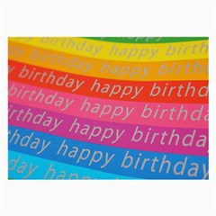 Colorful Happy Birthday Wallpaper Large Glasses Cloth (2-Side)