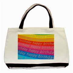Colorful Happy Birthday Wallpaper Basic Tote Bag (Two Sides)
